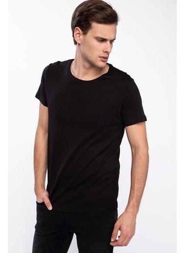 DeFacto Slim Fit Basic T-shirt Siyah